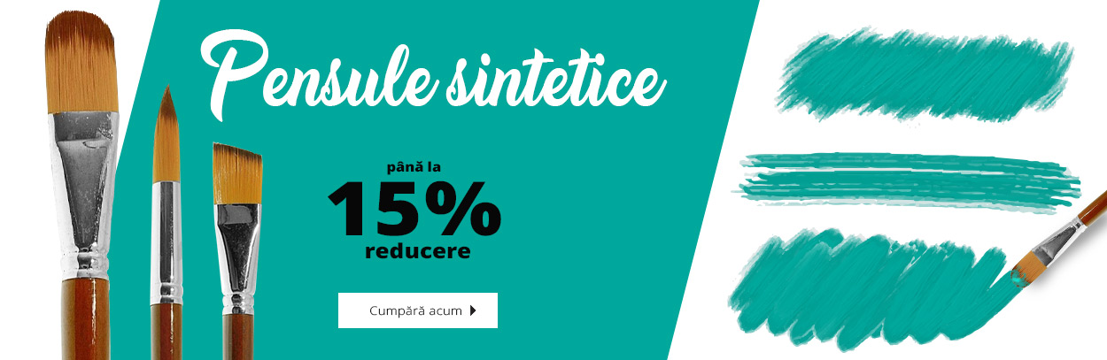 Reducere15%-pensule sintetice